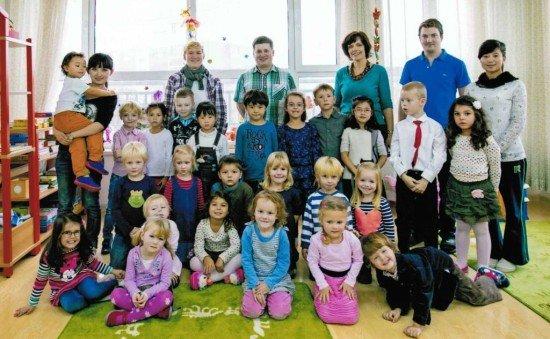 Gruppenbild-Kindergarten